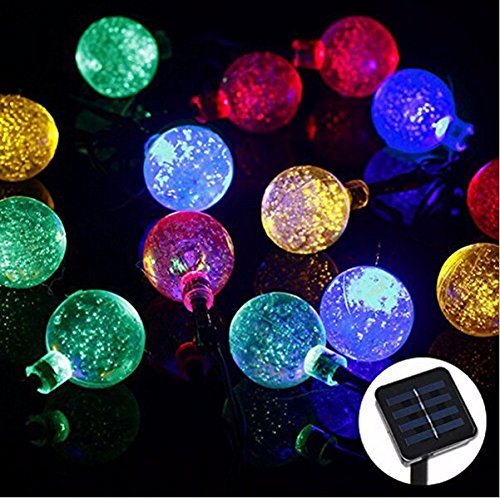 Solar Powered Led Outdoor String Lights 5M 20LEDs Crystal Ball Globe Fairy Strip Lights for Outside Garden Patio Party Christmas (Denso Ac Compressor Kit compare prices)