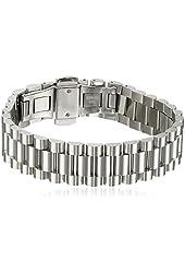 "Men's Stainless Steel Watch Band Bracelet, 8.5"""