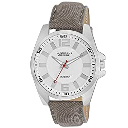 Laurels Original White Dial Analogue Watch for Men (Lo-Gt-202)