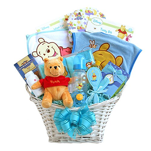 California Delicious Winnie The Pooh Baby Boy Basket - 1