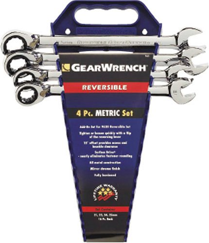 Gearwrench 9601 4 Piece Metric Reversible Ratcheting