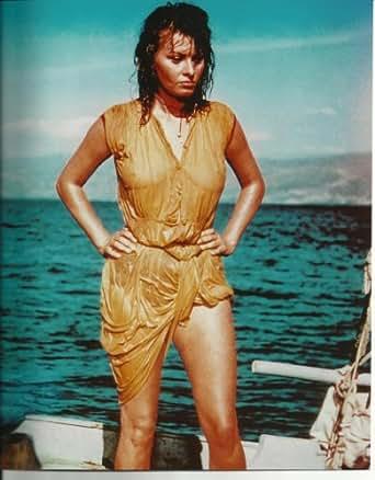 Sophia Loren All Wet Hands On Hips 8x10 Boy On A Dolphin