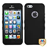 IPHONE5HPCTUFFSO001NP Premium TUFF Case for iPhone 5 - 1 Pack - Retail Packaging - Black