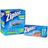 Ziploc Double Zipper Freezer Gallon Bags - Total: 152 Bags (4 X 38 ct.)