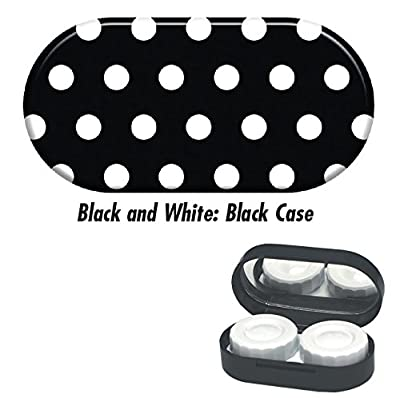 Contact Lens Cases - Black and White: Black Case
