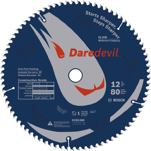 Bosch DCB1280 Daredevil 12-Inch 80-Tooth Extra-Fine Finish Circular Saw Blade (Table Saw Blades 12 compare prices)