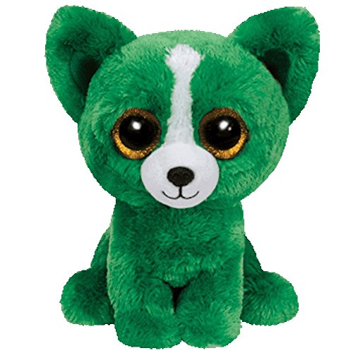 Ty Inc Beanie Boo Plush Stuffed Animal Dill the Green Dog 6""