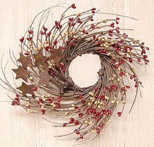 Burgundy and Old Gold Pip and Twig with Rusty Star Wreath, 7