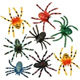 ~ 12 ~ Spiders ~ Approx. 2 Inch Plastic ~ New ~ Science, Insects, Halloween Table Sprinkles