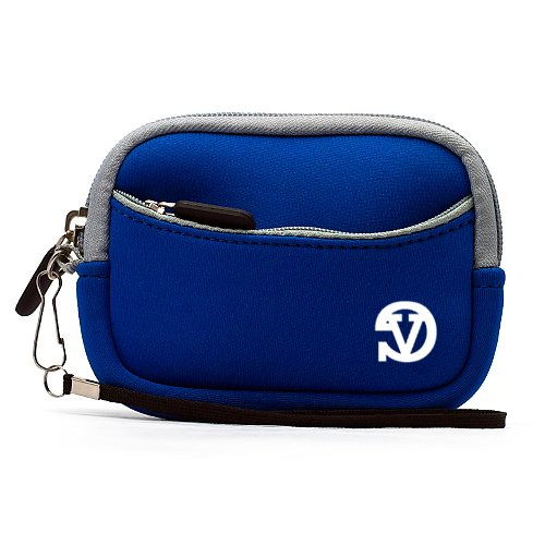 Blue VG Vangoddy Resistant Digital Camera Bag Case - Multiple Color (for Canon, Fuji, Sony, Panasonic, Samsung, Nikon, Pentax, Lumix, Kodak, Olympus & all other Compact Digital Cameras - Internal Size: 95 x 65 x 20mm) (NavyBlue)