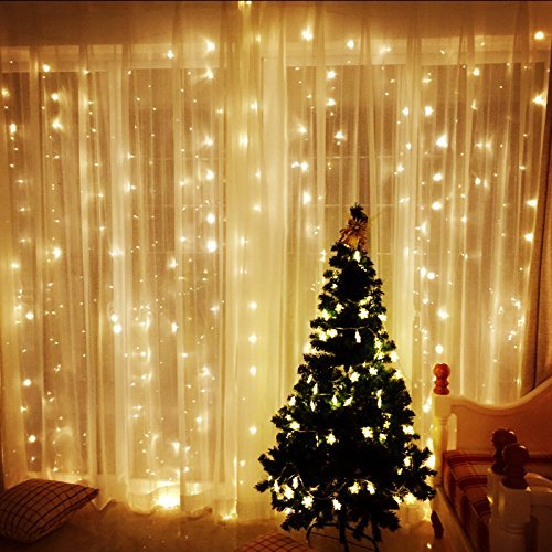 blusmart curtain icicle lights window lights low voltage 30v string fairy lights 98ft98ft 300 leds warm white lamp for home party wall