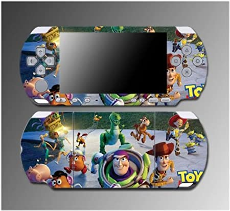 Toy Story Woody Buzz Lightyear Mr Potato Head Game Vinyl Decal Sticker Cover Skin Protector 2 for Sony PSP Slim 3000 3001 3002 3003 3004 Playstation Portable