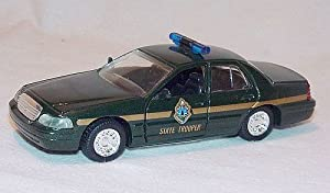 VERMONT STATE POLICE Road Champs 1998 Ford Crown Victoria Police Series Die Cast Car 1:43 Scale