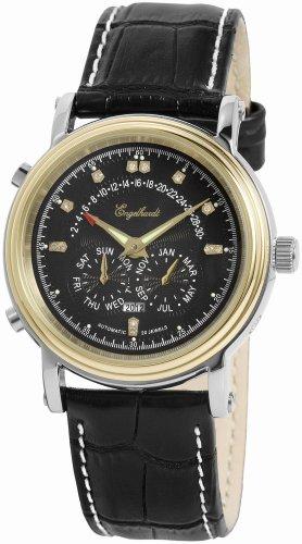 Engelhardt - 386711029002 - Montre Homme - Automatique - Analogique - Bracelet Cuir Noir