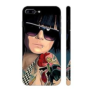 Enthopia Designer Hardshell Case COOL TATTOO GIRL Back Cover for Apple iPhone 7 Plus