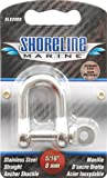 Shoreline Marine Stainlesss Steel Shackle Straight, 5/16-Inch (316)
