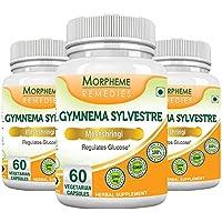 Morpheme Gymnema Slyvestre (Meshshringi) 500mg Extract 60 Veg Caps - 3 Bottles