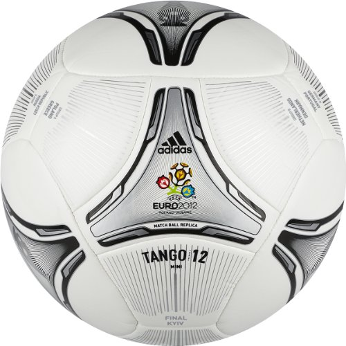 Adidas Euro 2012 Final Glider Soccer Ball (White/Black/Metallic Silver | Neo Iron Metallic, 5)