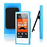 CellDeal Fits, iPod Nano 7 Case,7th Gen Cover, Compatible For Apple, TPU Belt Clip Series + Blue