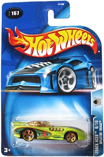 Hot Wheels Track Aces 6/10 Splittin' Image 2003 #167 Antifreeze Color on Card Variation - 1