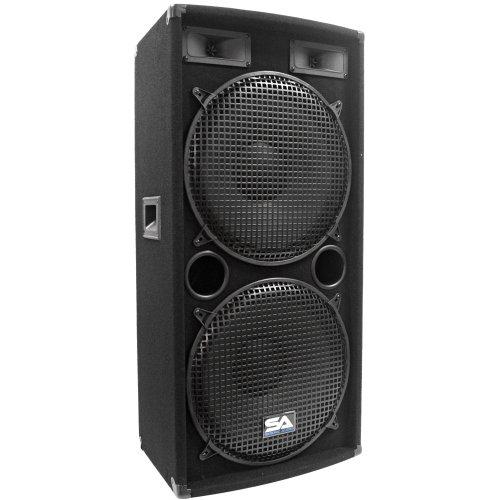Seismic Audio - Dual 15 Inch Pa Dj Speaker 500 Watts Pro Audio - Band, Bar, Wedding, Church