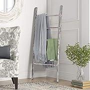 "Rose Home Fashion RHF 48"" Decorative Ladder,Ladder Shelf,Leaning Shelf,Decorative Ladder for Bathroom, Ladder Shelf Stand, Rustic Farmhouse Wood Ladder,Ladder Shelves,Decor,No Assembly Required"