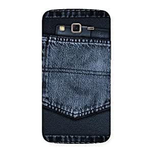 Premium Navy Jeans Pocket Back Case Cover for Samsung Galaxy Grand 2