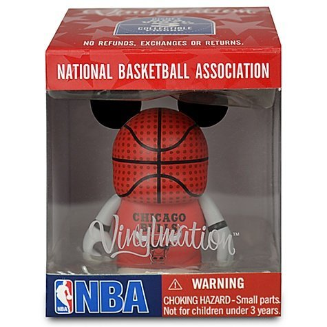 NBA Team Chicago Bulls Disney Vinylmation 3 inch Figure LOOK National Basketball Association by Disney