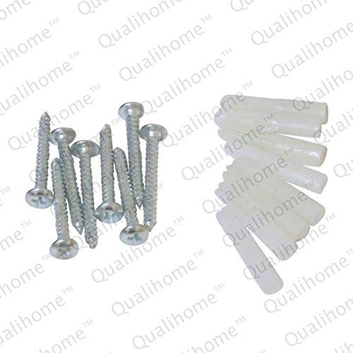 Heavy Duty Jumbo Rectangular Shower Curtain Rod Flange Bracket Chrome Polished Set Of Two