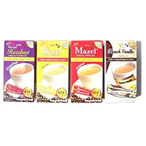 Instant Coffee Packets with Cream & Sugar - 4 Flavors