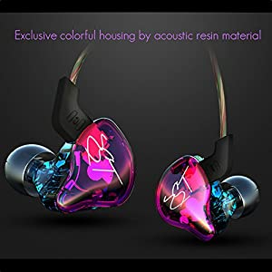 KZ In-Ear Earbud Headphones , ZST Colour Balanced Armature+Dynamic Hybrid Dual Driver Earphones HIFI Earbuds Bass Headset In-ear Earphones for Cellphones (with MIC)