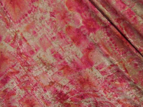 "1 Y 60""W Velvet Penne With Tie Dye Pattern Extraordinary Soft 4 Way Stretch"