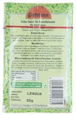 Ostmann Salat Quick Kartoffelsalat 3er Packung, 4er Pack (4 x 20 g) von Ostmann - Gewürze Shop