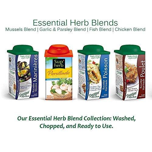 Daregal Fresh Frozen Chopped Herb Blends: Mussels, Fish, Garlic & Parsley, Chicken Blends