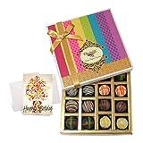 Chocholik Luxury Chocolates - Yummy Dessert Truffles Gift Box With Birthday Card