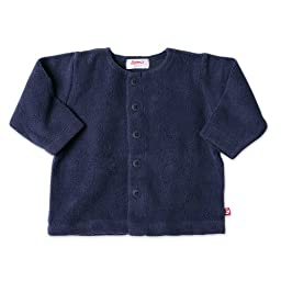 Zutano Infant Unisex-Baby Cozie Fleece Jacket, Navy, 18 Months