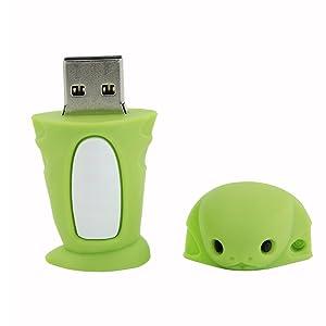 Novelty Creative Cute Chinese Zodiac Snake Shape 32GB USB 2.0 Flash Drive Cartoon Thumb Drive Memory Stick Pendrive