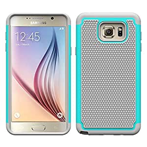 Samsung Galaxy Note 5 Ball Grain Cases Lordther® Durable Layer Armor Hybrid Silicone Case Cover for Samsung Galaxy Note 5 (grey green)