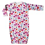 Single pack Girls nightie with elasti...