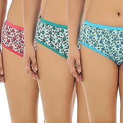 Gujarish Acclaimed Pack Of 3 Multicolour Panties