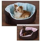 Slumber Pet Cotton/Nylon 18-Inch Dimple Plush Nesting Dog Bed, Pink