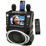 Karaoke USA GF830 DVD/CDG Karaoke Player with Bluetooth & SD Slot + Christmas Songs 6 CDG Pack