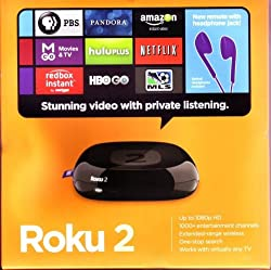 Roku 2 Streaming Player (Black) (Roku 2720RW) VUDU Edition