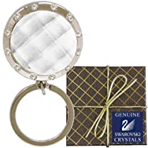 Chatt Clear & Swarovski PP24 Crystal LED Key Chain in Gift Box