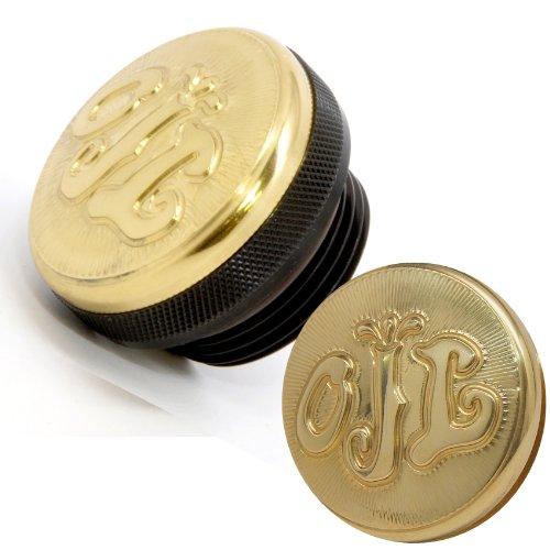 Speed Dealer Brass and Black Oil Cap for 1-1/4
