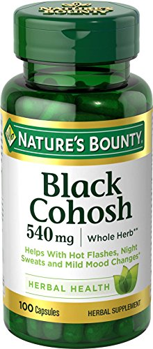 Nature s Bounty Black Cohosh 540 mg Natural, 100 Capsules