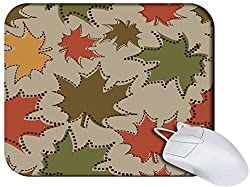 Snoogg Mixed Color Leaves Non Slip Rubber Mouse Pad