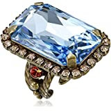 "Sorrelli ""Tropical"" Luxurious Emerald-Cut Cocktail Ring"