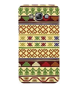 Tribal Cross Art Pattern 3D Hard Polycarbonate Designer Back Case Cover for Samsung Galaxy E7 :: Samsung Galaxy E7 E700F (2015)