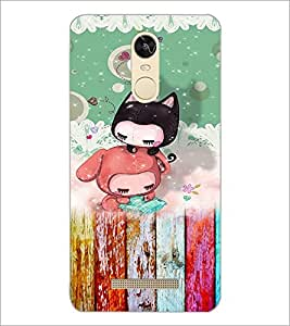 PrintDhaba Cartoon D-3157 Back Case Cover for XIAOMI REDMI NOTE 3 (Multi-Coloured)